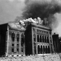 Incendio della Biblioteca durante l'assedio