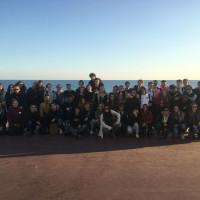 A Nizza con tutte le classi del Liceo Morandi di Finale, del Liceo Wiligelmo di Modena , dell'Itis Fermi di Modena