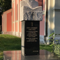 Travnik l'antica capitale bosniaca. Tomba di Ivo Andric.