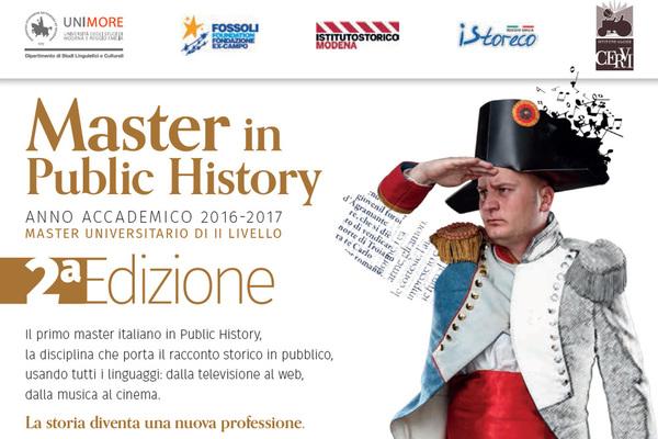Seconda edizione del master in Public History