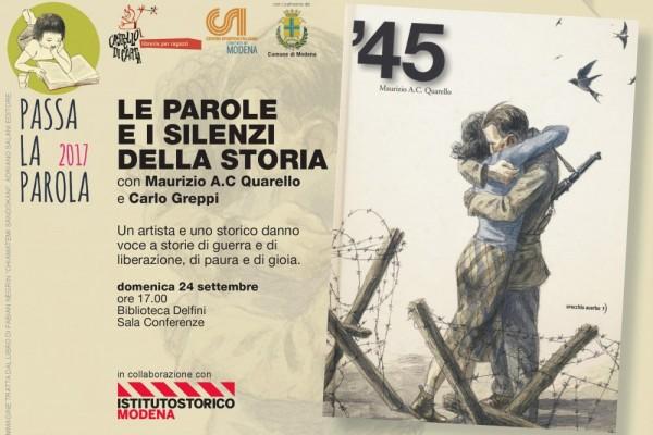 Le parole e i silenzi della storia. Con Maurizio A.C Quarello e Carlo Greppi