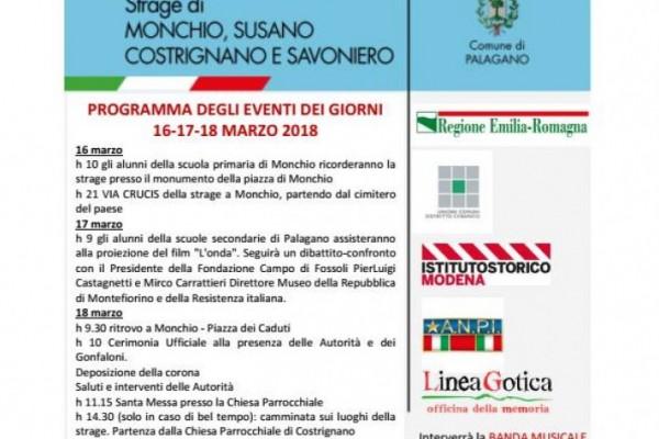 Anniversario strage di Monchio, Susano, Costrignano e Savoniero