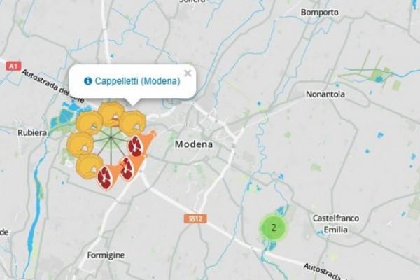 GuerrainFame, la mappa geostorica gastronomica