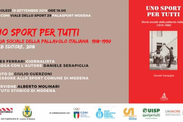 Uno sport per tutti. Storia sociale della pallavolo italiana 1918-1990