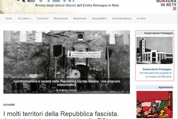 Ultimo numero di E-Review dedicato alla Repubblica Sociale Italiana