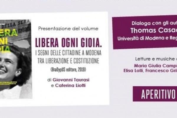 'Libera ogni gioia', presentazione a Modena
