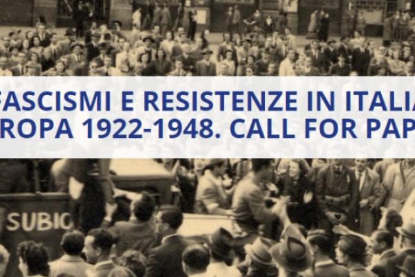 Cantieri della Resistenza - Call for paper 2020