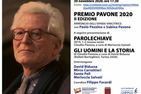 Premio Pavone 2020 - annuncio del vincitore
