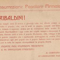 Volantino Cln raccolto da Adamo Pedrazzi all'interno della sua Cronaca.