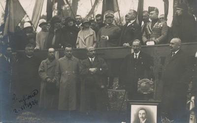Inaugurazione del Parco delle Rimembranze a Stuffione di Ravarino, 2 novembre 1924
