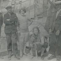 In un cantiere di lavoro nei Pirenei, 1928